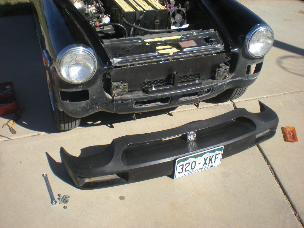 Front bumper removed