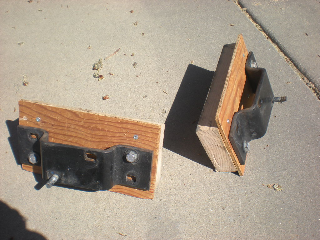 wooden mounting features