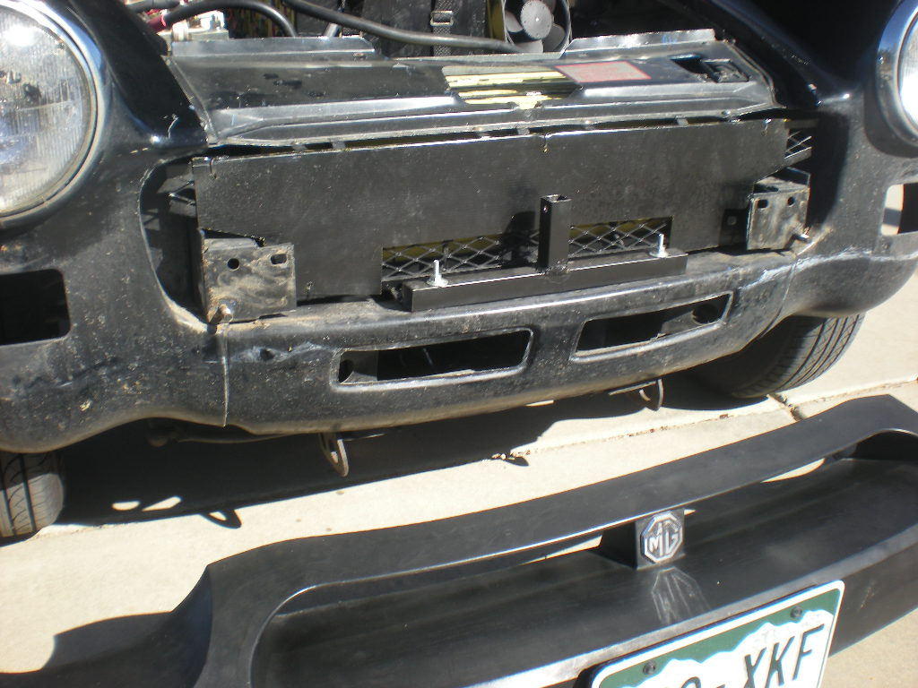 Front bumper removed2
